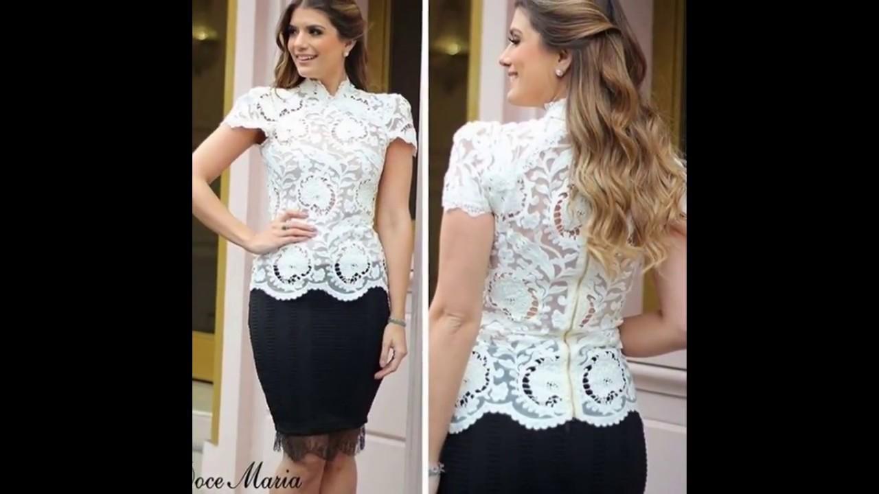 Imagenes de vestidos cortos en blonda
