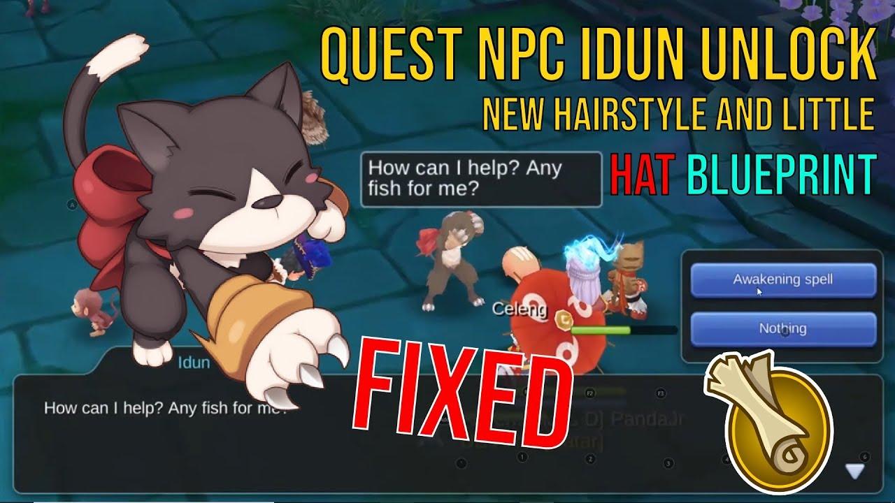 cara menyelesaikan quest npc idun unlock new hairstyle & little hat