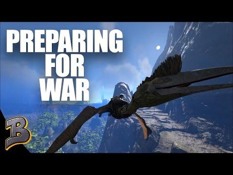 Preparing For WAR!!! Ark Survival Evolved PvP The Volcano Ep 4