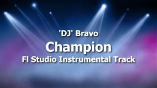 DJ Bravo Champion Instrumental _ Karaoke Track With Lyrics