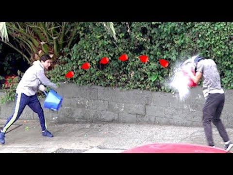 WATER BALLOON FIGHT PRANK
