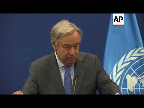 UN chief and Palestinian PM on Guatemala, MidEast peace