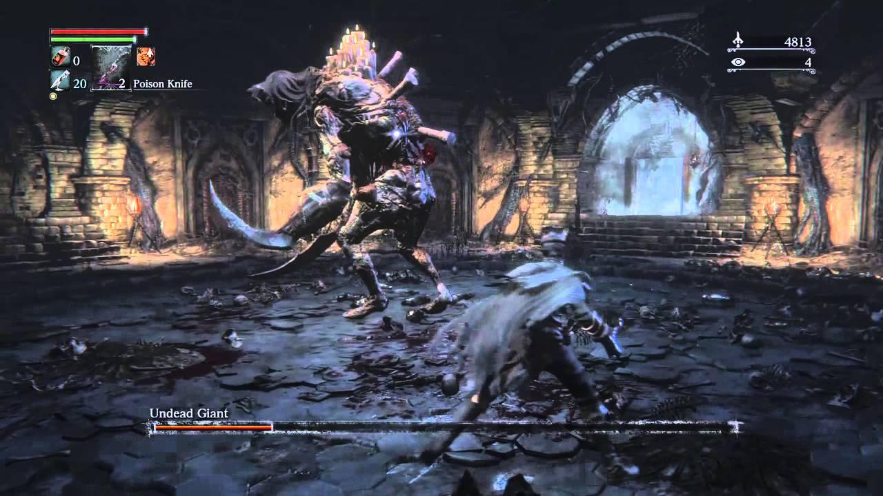 bloodborne undead giant mercy blades youtube