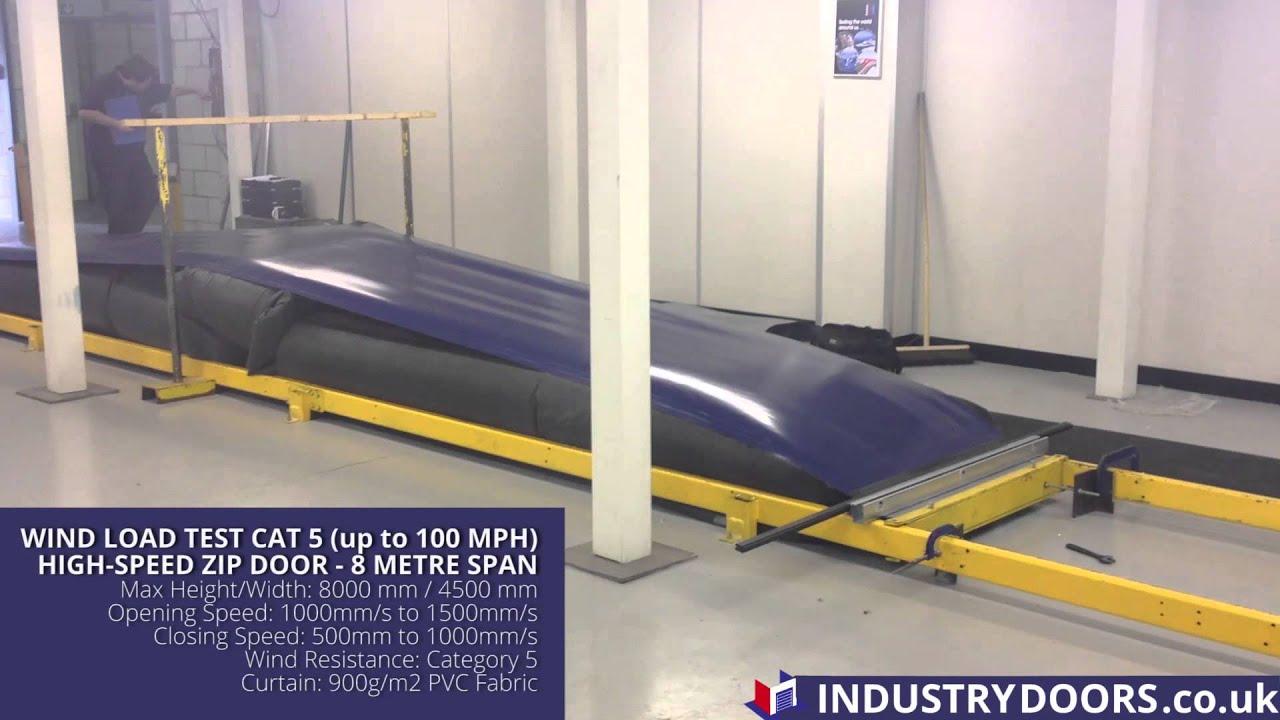 High Speed Industrial Zip Door Wind Load Test & High Speed Industrial Zip Door Wind Load Test - YouTube