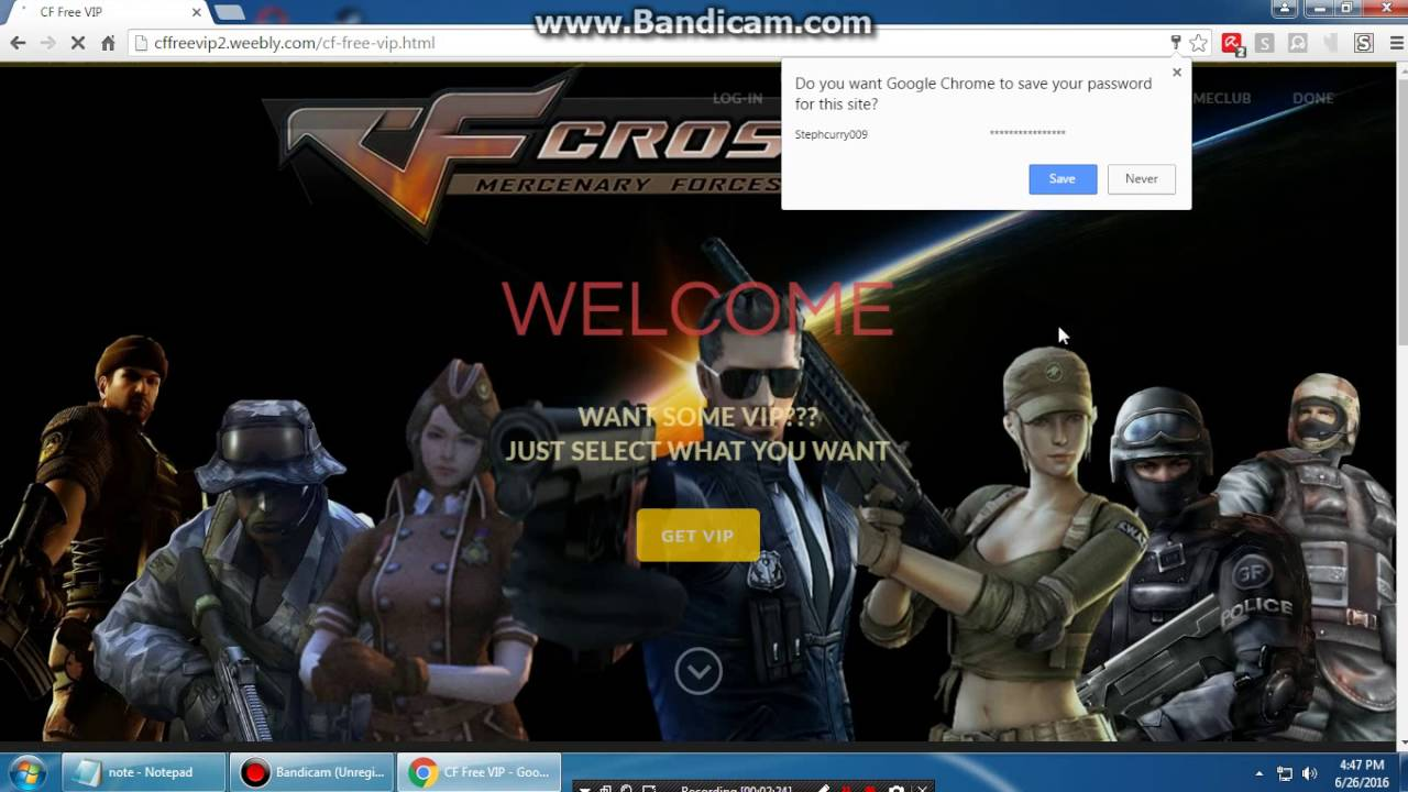 Crossfire PH Free VIP Giveaway 100% Working 2016-2017