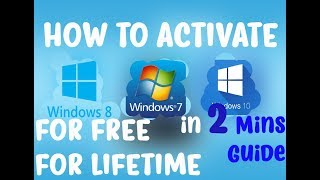 Activate Windows Any Version For Free 2017