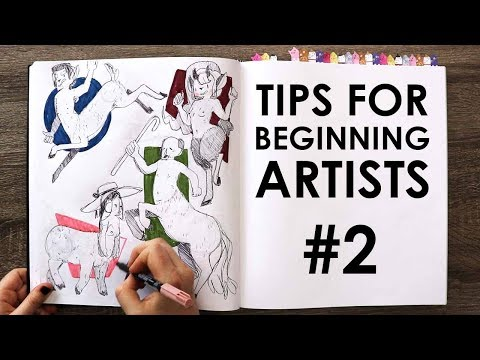 SKETCHBOOK SLAM CHALLENGE DAY 8 - Tips For Beginning Artists