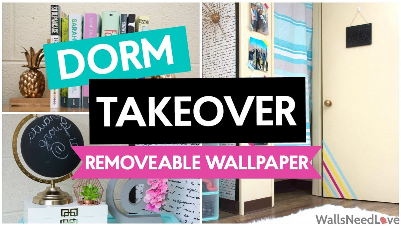 DORM TAKEOVER HOW TO APPLY REMOVABLE WALLPAPER