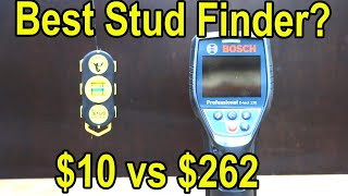 Best Stud Finder? $262 Bosch vs $10 CH Hanson vs 9 Other Wall Stud Scanners! Let's find out!