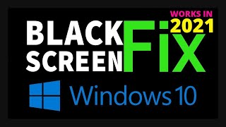 How to fix Black Screen after boot on Windows 10   Easy Method & 100% working
