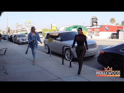 Kim and Khloe Kardashian Go Shopping at Sap and Honey in Sherman Oaks
