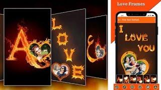 Fire Text Photo Frame - New Free Photo Editior  2020 screenshot 1