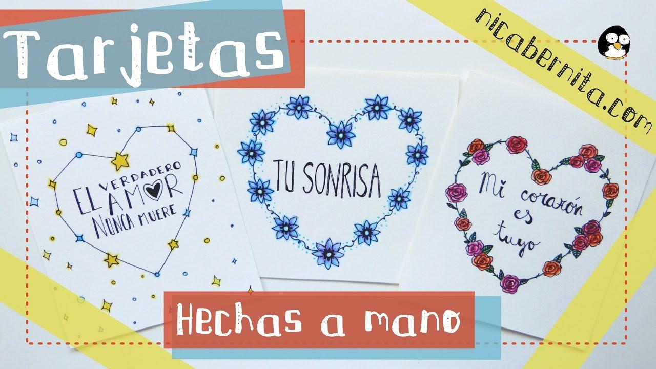 Tarjetas Hechas A Mano Con Frases De Amor Ideas Para Regalar San