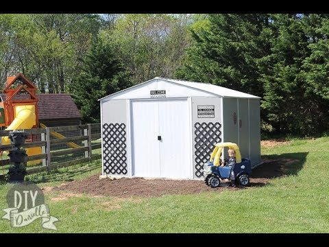 Building a Kids Garage for Outdoor Toy Organization