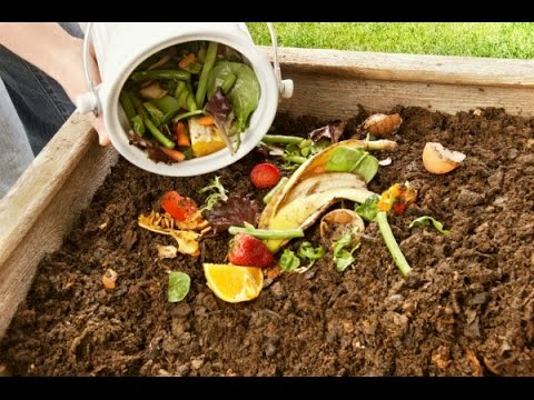 How To Make A Compost From Kitchen Scrape And Garden Waste