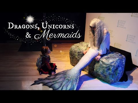 LIVE MERMAID at the Grand Rapids Public Museum- Dragons, Unicorns & Mermaids Exhibit 2018 | Mythic
