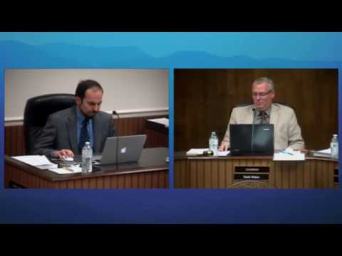 January 2018 Meeting of the McDowell County Board of Commissioners (NC)