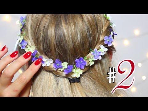 Schnelle Oktoberfest Frisur 2 Haar Tutorial Oktoberfest Frisur Mit Blumen