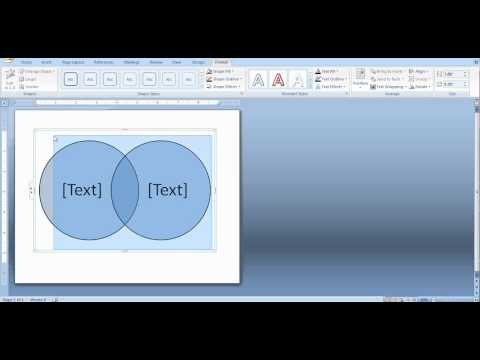 how to create a venn diagram in word and powerpoint   youtube