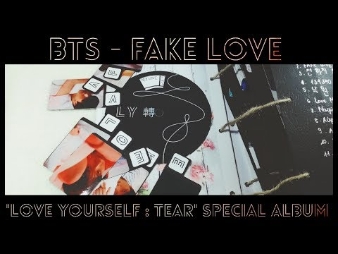 "Scrapbook Ideas _ BTS _ FAKE LOVE theme _ "" Love Yourself : Tear"" special Album"