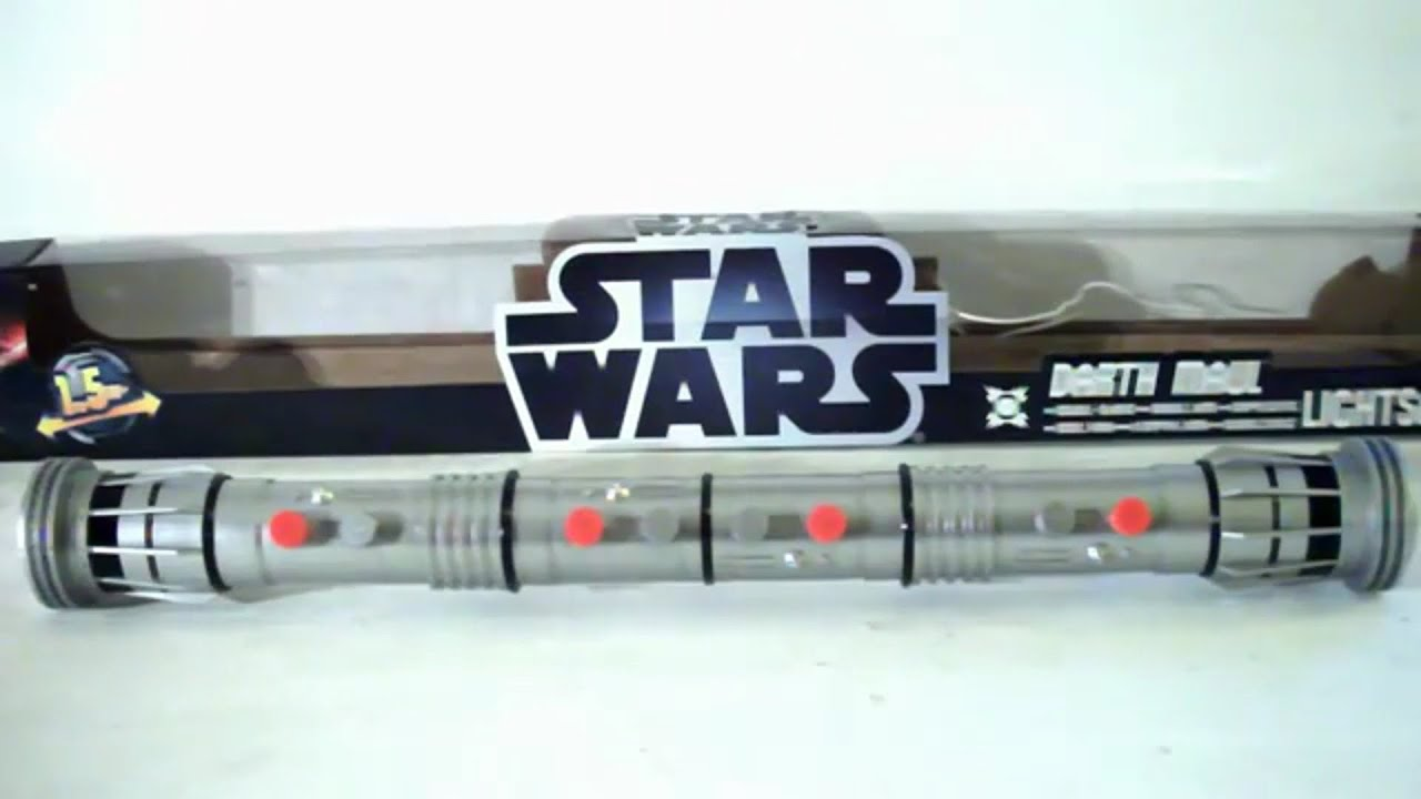 STAR WARS Darth Maul Double Bladed Lightsaber Toy Review | DarkLordSaxon - YouTube