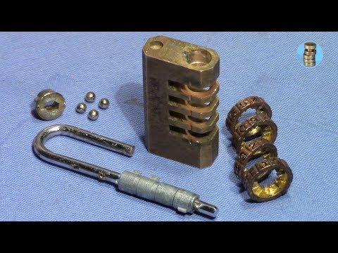 (picking 638) Combination Padlock Decoded And Gutted - Cool Gift From 'lockmania'