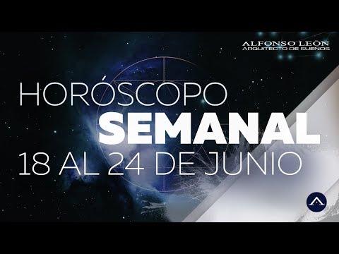 HORÓSCOPO SEMANAL  18 AL 24 DE JUNIO  ALFONSO LEÓN ARQUITECTO DE SUEÑOS