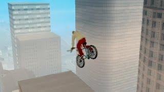 GTA San Andreas - Прыжки на велосипеде - JHJOECW(GTA San Andreas - Прыжки на велосипеде с использованием кода JHJOECW. Код позволяет прыгать очень высоко и придумывать..., 2014-06-03T21:59:12.000Z)