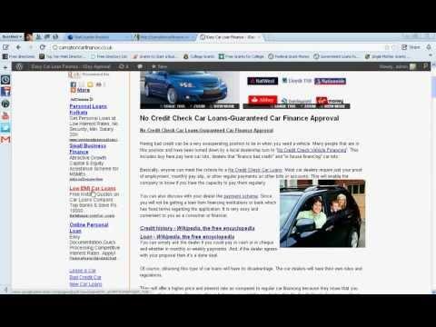 No Credit Check Car Dealers UK-Poor Credit Car Finance Guaranteed