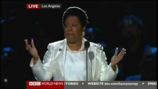 LIVE MEMORIAL MICHAEL JACKSON AT THE STAPLES CENTER - SHEILA JACKSON LEE