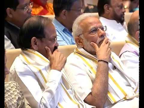 "PM Modi releases book ""Tireless Voice Relentless Journey: Key speeches & articles of Venkaiah Naidu"""