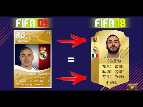 Рейтинг знаменитых игроков тогда и сейчас/FIFA 09 ~FIFA 18