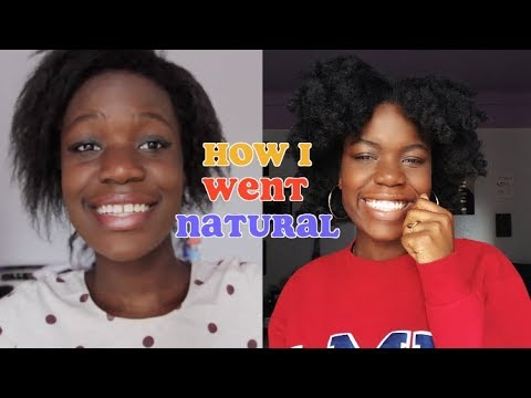 HOW I TRANSITIONED FROM RELAXED TO NATURAL HAIR! (No Big Chop)