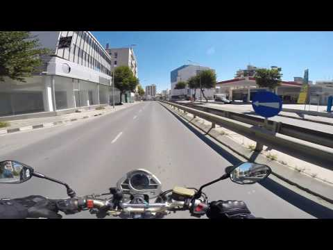 Ride in Nicosia on honda hornet