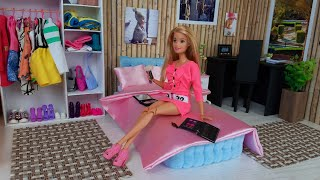 barbie-ken-video-life-in-the-dreamhouse-morning-bedroom-routine-dress-up-barbie-doll-new-dress