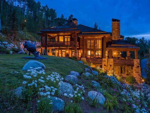 Custom Log and Stone Residence in Beaver Creek, Colorado