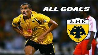 Rivaldo • All Goals With AEK • HD