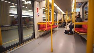 Poland, Warsaw, metro ride from Służew to Słodowiec, 2X OTIS escalator