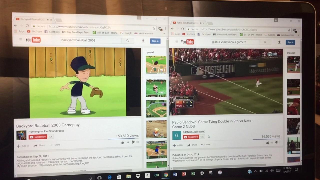 backyard baseball 2003 intro video w giants nationals game 2
