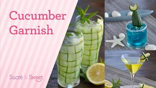 How To Make Siṁple Cucumber Cocktail Garnishes.