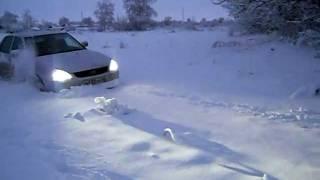 приора снег