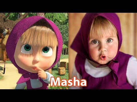 Masha And The Bear Characters In Real Life | All Characters 2017