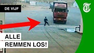 Klojo-trucker richt ravage aan - DE VIJF