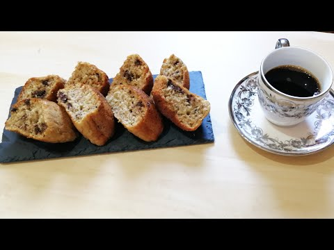cake-a-la-banane-et-chocolat-sans-sucre;-recette-healthy-//-كيكة-الموز-الصحية
