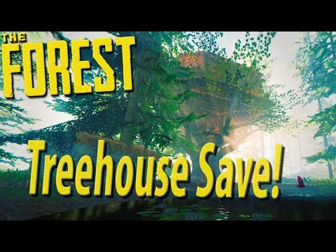 ►Our Treehouse Villa! Base Showcase / Save File Share [Hard Mode]  | The Forest
