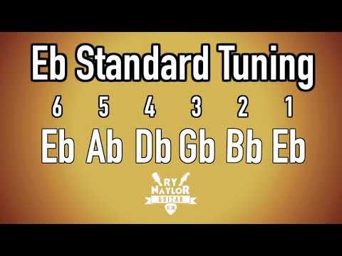 E Flat Standard Tuning Guitar Notes - Guitar Tuner Half Step Down