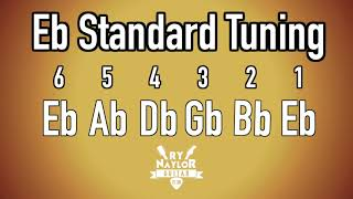 e flat standard tuning guitar notes - guitar tuner half step down/ srv guitar tuning/ slash, hendrix