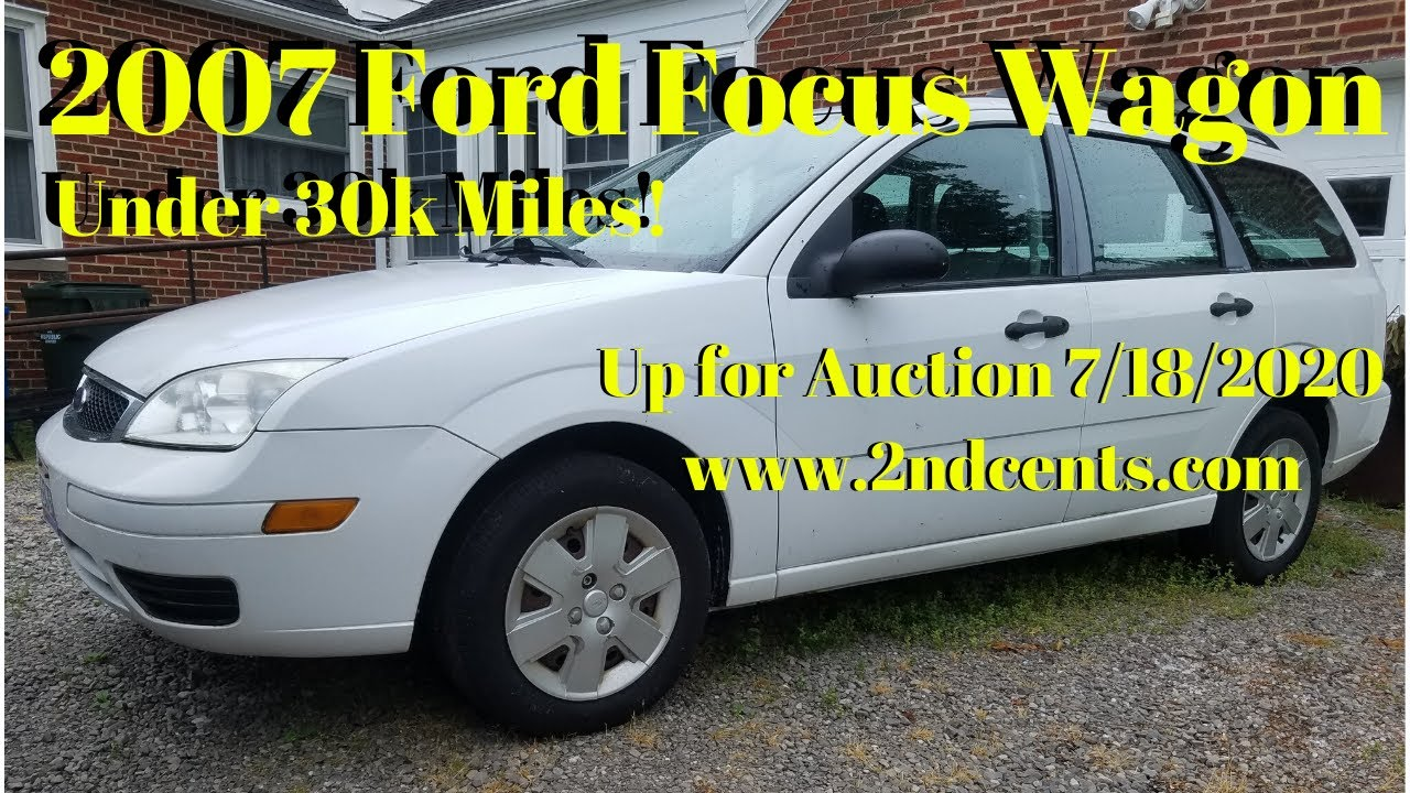 2007 Ford Focus Demo Video - Up for Auction 7-18-20 - Cleveland, Ohio