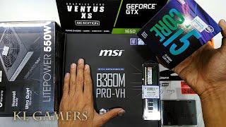intel Core i5 9400F msi B360M PRO-VH Kingston A400 SSD Nvidia GTX 1650 Ventus XS Gaming RIG 2019