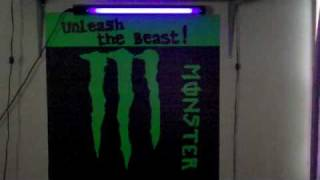 """monster energy sign/ and starter collection """")"""